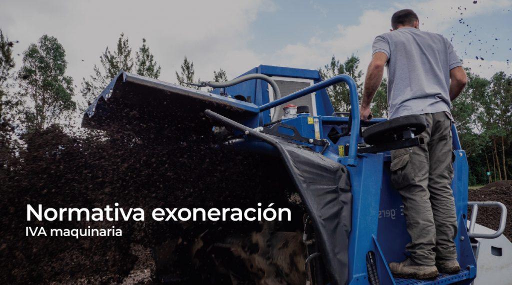 Normativa exoneración IVA maquinaria